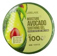 Гель увлажняющий успокаивающий с экстрактом авокадо LEBELAGE Soothing Gel Moisture Avocado 100% 300мл: фото