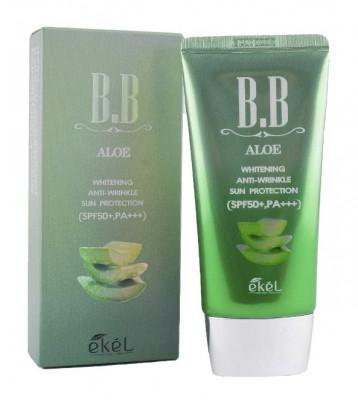 BB-крем с экстрактом алоэ Ekel Cream Aloe SPF50+ PA+++ 50 мл: фото