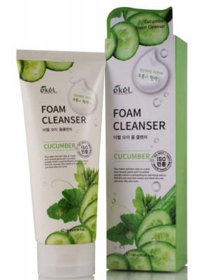 Пена для умывания с экстрактом огурца Ekel Foam Cleanser Cucumber 180 мл: фото