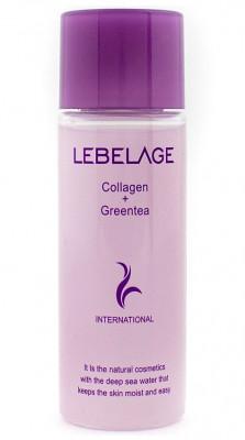 Тонер с коллагеном и экстрактом зеленого чая Lebelage Collagen+Green Tea Moisture Skin Minime 30 мл: фото