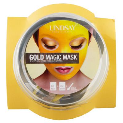 Альгинатная маска c коллоидным золотом (пудра+активатор) Lindsay Gold Rubber Mask (65г+6,5г)*2: фото