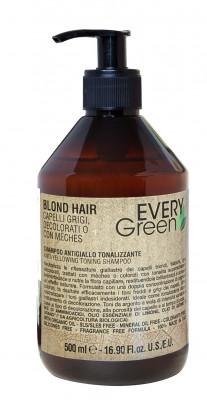 Шампунь против желтизны двойной концентрации Dikson EVERY GREEN Antiyellow shampoo double concentration 500мл: фото