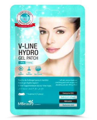 Подтягивающая маска-бандаж с гидрогелем для линии подбородка и овала лица Smart Beauty Shop MBeauty V-Line Hydro Gel Patch 13г: фото