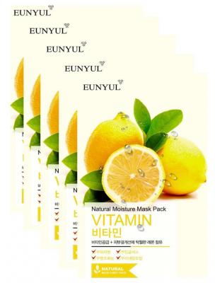 Набор тканевых масок с витаминами EUNYUL NATURAL MOISTURE MASK PACK VITAMIN 22мл*5шт: фото