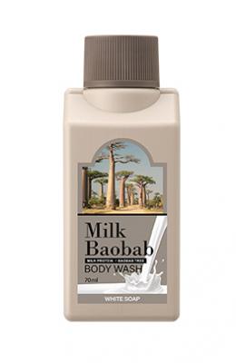Гель для душа с ароматом белого мыла Milk Baobab Body Wash White Soap Travel Edition 70мл: фото